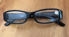 Women's Reading Glasses +2.75 Black/Tortoise Print/Buckle Style W/ Case (CC)