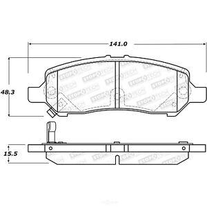 Disc Brake Pad Set-Street Brake Pads Rear Stoptech fits 2013 Dodge Dart
