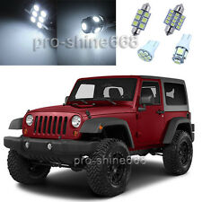 Premium Xenon White LED Interior 9PCS Lights Package for Jeep Wrangler 2007 2014