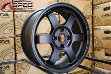 One 15x6.5 Rota GRID 4x100 +38 Flat Black Wheel