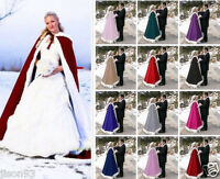 2019 Winter Fur Classic Bridal Cape Wedding Cloak Fur Trim Hooded Jacket130CM