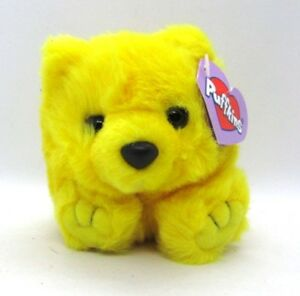 Buttercup the Yellow Bear Puffkins Bean Bag Plush with Tag Swibco 6674