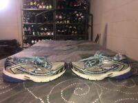 Brooks Ravenna 3 Womens Athletic Running Training Shoes Size 6 Gray Blue Black