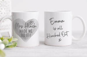 Personalised Name Mug Cup Mrs Hinch inspired Tea Coffee Perfect Gift