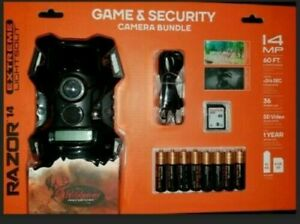 Wildgame Razor Extreme 14MP Lightsout Game Camera Security Batteries & SD Card