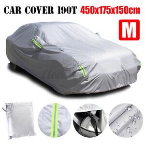 Outdoor Car Cover Protector Scratch Dust UV Sun Rain Snow Waterproof Resistant M