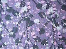 Seide Baumwolle -modernes Blütenmuster grau bunt Meterware