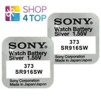 2 SONY 373 SR916SW BATTERIES SILVER OXIDE 1.55V WATCH BATTERY EXP 2021 NEW