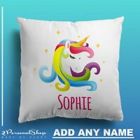 Personalised Unicorn Cushion Pillowcase Pillow Case Cover Custom Gift Girl