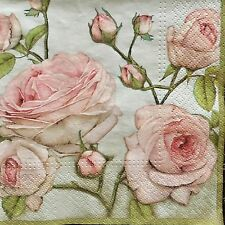 Papel Servilletas x20 PC Pack Para Decoupage Craft Servilleta Vintage Rosas Flores 157