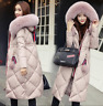 NEW Winter Women's long Down Cotton Parka Fur Collar Hooded Coat Quilted Jacket#