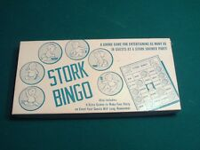 VINTAGE 1957 LEISTER GAME COMPANY STORK BINGO BABY SHOWER GAME