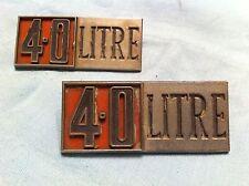Chrysler 4.0 Litre Fender Badge