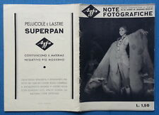 LIBRETTO Note Fotografiche AGFA N. 12 GIUGNO 1933