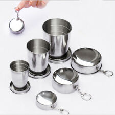 Stainless Steel Travel Mug Retractable Foldable Camping Picnic Drinking Cup hot