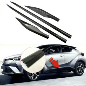 Fits 2017-2021 Toyota C-HR Carbon fiber Body Side Door Molding Cover Trim Decor