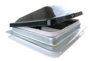 "Heng's NEW DESIGN RV Roof Vent SMOKE Wedge Lid -- 74111A & 1"" GARNISH"
