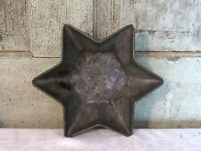 Old Antique Tinware Tin Metal Star Baking Cake Pan Jello Mold Rolled edge