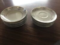 "alberon translucent fine China japan lot of 12 #4144 6 1/2"" Plates Bowls B43"