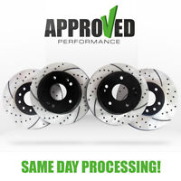 [Front and Rear Kit] Performance Drilled & Slotted Brake Rotors ( Rotors Only )