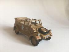 Volkswagen Kubelwagen Typ 82 Afrika Korps militar 1/43 Cararama