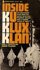 GILETTE, Paul J. - INSIDE KU KLUX KLAN  Pyramid R-1223, 1965  PBO.