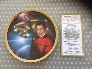 Star Trek CapTain Kirk and Enterprise Hamilton  Collection Plate with COA