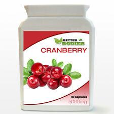 Cranberry 5000mg 90 Tablets Per Bottle Better Bodies UK Vitamins cystitis