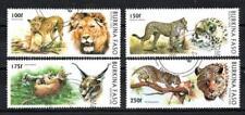 Animaux Félins Burkina Faso (86) série complète 4 timbres oblitérés