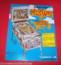 MUSTANG By GOTTLIEB 1977 ORIGINAL FLIPPER PINBALL MACHINE SALES FLYER BROCHURE