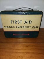 Vintage Woods Emergency Case First Aid Kit Johnson and Johnson Rare