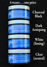 Chalk Painting Wax Kit/ Four 4 oz Waxes. Black, Clear, White, Dark Antiquing