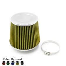 """3"""" 76mm Air Intake Filter High Flow Cone Cold Air Intake Performance Yellow"""