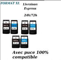 Cartouches compatibles Canon PIXMA PG CL 512 513 540 541 545 546 XL LIVR EXPRESS