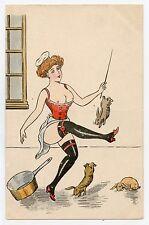 Charme, érotique . LA CUISINIERE. Lapins . Charm. Erotic . Rabbits