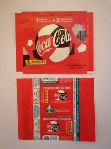 EURO 2020 Tournament ed. BLUE - 1x full packet COCA COLA - NOT PEARL