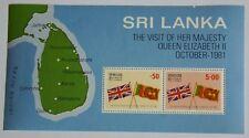 Block Besuch von Königin Elisabeth II.1981 - Sri Lanka