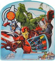 Marvel Avengers Large Art And Colouring Box - Blue Carry Case Gift Set