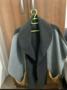 Grey Topshop cape, Wool One Size, Never Worn