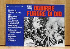 AGUIRRE FURORE DI DIO fotobusta poster der Zorn Gottes Klaus Kinski Herzog B38