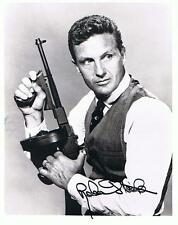 ROBERT STACK SIGNED UNTOUCHABLES photo with GUN