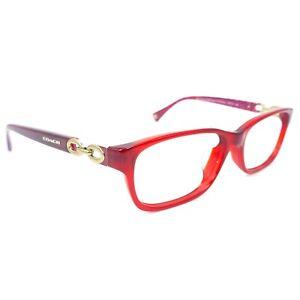 Coach HC 6052F Fannie 5237 Burgundy Red Pink Women's Eyeglasses Frame +Case P101