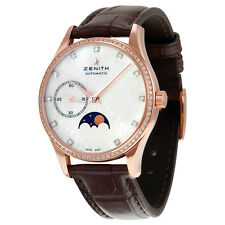Zenith Heritage Ultra Thin Moonphase Automatic Mother of Pearl Dial Ladies