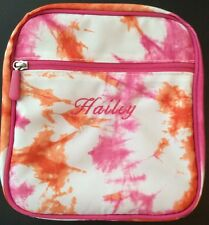 New Pottery Barn Haiey Tye-dye Pink $ Orange Classic Lunch Bag Box Tote Pbt