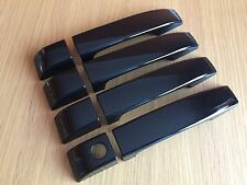 GLOSS BLACK DOOR HANDLE COVERS FOR LAND ROVER RANGE VOGUE L322 2002-12 PREMIUM