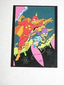 1993 SIMPSONS OVERSTREET GIVEAWAY CBM #7 PROMO CARD RADIOACTIVE MAN & BARTMAN!