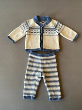 Janie and Jack Knit Boys 3-6m Outfit Fair Isle Sweater & Comfy Pants Holiday