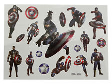 Temporary Tattoo CAPTAIN AMERICA Good Quality Great for Party Bags