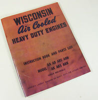 WISCONSIN AA AB ABS ABN ENGINE SERVICE REPAIR INSTRUCTION OPERATORS PARTS MANUAL