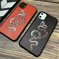 Luxury brand snake soft case iphone 11 pro X XS Max phone cover 3D Super relief
